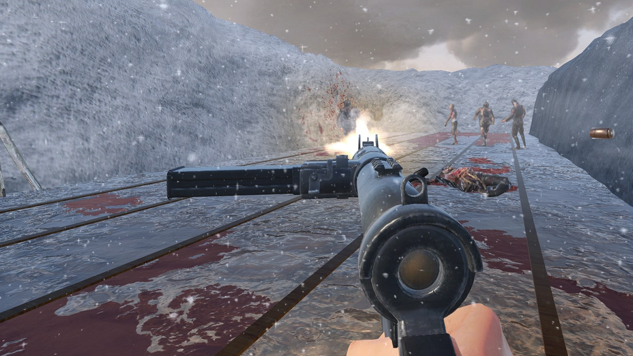 World War 2 Winter Gun Range VR Simulator0