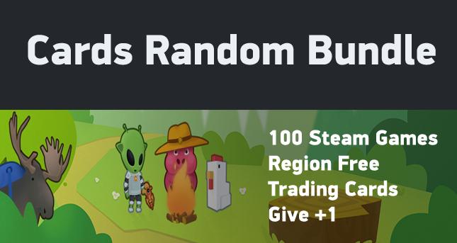 x100 Cards Random (100 different Steam games)
