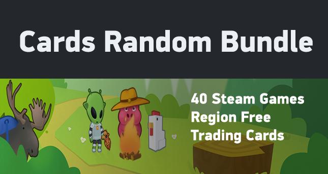 x15 Cards Random (15 different Steam games)